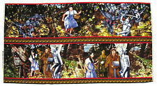 """THE WIZARD OF OZ """"WICKED WITCHS CASTLE"""" DOROTHY TIN MAN LION COTTON FABRIC PANEL"""