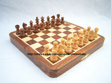 """NEW 7"""" HANDMADE TOP QUALITY MAGNETIC WOODEN CHESS SET - FREE SHIPPING!!!"""