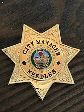 Vintage And Obsolete Needles CA City Manager Badge - Sun Badge Company