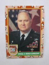 1991 Topps General H. Norman Schwarzkopf Desert Storm Card #4 Trading Cards