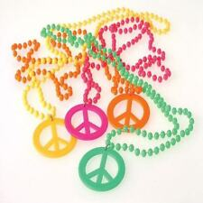 12 Peace Sign Necklaces Retro 60s 70s Party Goody Loot Bag Jewelry Favor Supply