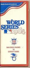1984 World Series Media guide Tigers Padres