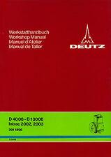 Werkstatt-Handbuch Deutz-Schlepper -Druckluftanlage-  D 4006 - D 130 06 + Intrac
