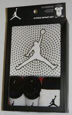 New Air Jordan Jumpman Basketball White Black Infant Outfit Bodysuit Socks Set