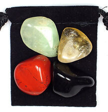 BLOOD DISORDER Tumbled Crystal Healing Set  = 4 Stones + Pouch +Description Card