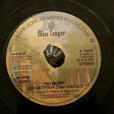 "Alice Cooper  (No More) Love At Your Convenience 7"" Single Ex.Cond FREE POST"