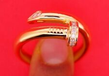 Mens Twisted Nail Ring 0.50 Carat Diamonds 10k Solid Yellow Gold Best Deal Video