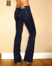 Seven 7 For All Mankind $178 Skinny Slim Bootcut Gummy Jeans Dark Rich Sateen 26