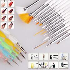 20pcs Nail Art Design Brush Set Dotting Painting Drawing Polish Pen Tools Kit GG