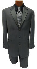 38R Chaps Ralph Lauren Charcoal Grey Tuxedo Jacket Blazer Halloween Costume Coat