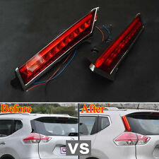 Pair Rear Window Decoration Lamp Led Tail Brake Light for Rogue X-Trail 14-2015