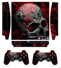 Skull 251 Skin Sticker Cover for PS3 PlayStation 3 Slim and 2 controller skins