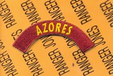 US Army Transportation Command AZORES tab arc patch