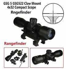 4X32 Compact Tactical Scope Rangefinder  With Ring GSG 5 GSG522 Claw Mount Combo