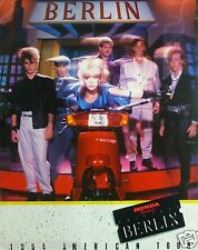 "BERLIN ""1984 NORTH AMERICAN TOUR"" CONCERT POSTER - Terri Nunn On Honda Scooter"