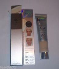 it Cosmetics CC+ Cream SPF 50 in Light - Travel Size .406 oz. - New in Box