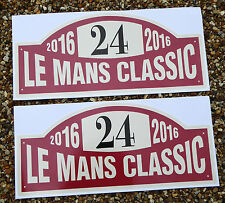 LE MANS 24 HOURS CLASSIC 2016 WINDSCREEN stickers x2 for INSIDE GLASS