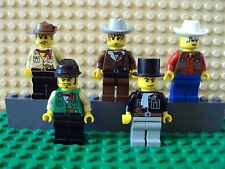 Lego Minifig ~ Mixed Lot Of 5 Wild West Western Cowboys Outlaws/Bandits #bgh7