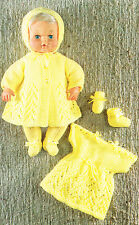 "Dolls clothes knitting pattern.12"" and  16"" doll. Laminated copy. (V Doll 66)"