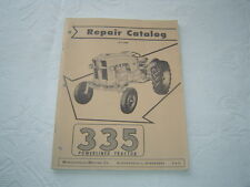 Minneapolis Moline 335 powerlined tractor parts catalog manual