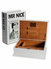 Mr Nice Wooden Rolling Book Stash Box - 16cm x 22.5cm Free UK P&P