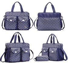 3 un. Bolsa De Cambio De Pañales Pañalera Set Conjunto de Moda Bolso de hombro Dot 06 Azul