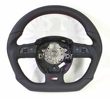 New OEM Audi Steering Wheel Flat Bottom Black Leather Red S Line B7 A4 TT S4 RS4