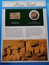 MESA VERDE NATIONAL PARK COLORADO COLOR US 2005 EAGLE 999 SILVER COIN STAMP