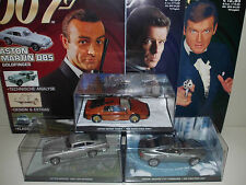 3x 1:43 JAMES BOND ASTON MARTIN DB5 + VANQUISH + LOTUS ESPRIT Modell Moviecar