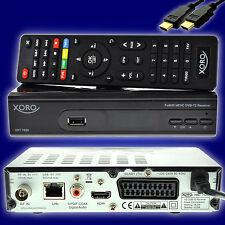 DVB-T2 receiver HD DVB-T 2 Xoro HRT 7620 HEVC H.265 USB HDTV LAN PVR dvbt + HDMI