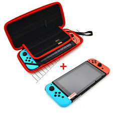 Nintendo Switch Case+Tempered Glass Screen Protector Accessories Carrying Case