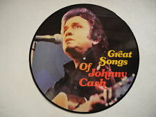 JOHNNY CASH Great Songs Of PICTURE DISC LP 1983