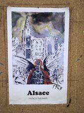 Affiche originale pour la Sncf par Salvador Dali 1969 Alsace french railways