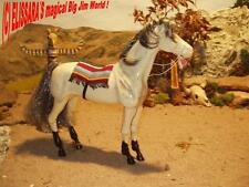 Big Jim Pferd Dallas  Schimmel - INDIANERPFERD mit Mähne ! Barbie Horse - Mattel