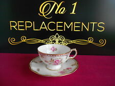 Royal Crown Derby Royal Pinxton Roses Fluted Teacup and Saucer XLIII