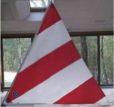 Neil Pryde Dacron Sail - 45 SF - Fits Snark Sailboat or Similar - Red & White