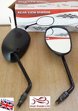 New Pair Motorcycle Motorbike Bike Universal Rear View Side Mirror 10mm Black