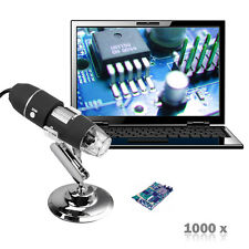 500X 2MP 8 LED USB Digital Microscope Endoscope Zoom Camera Magnifier Stand m