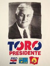 Vintage David Toro Presidente President of Bolivia Thin T Shirt M