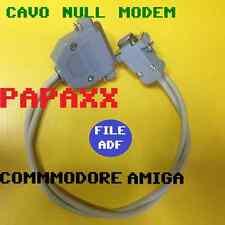 CAVO NULL MODEM PER COMMODORE AMIGA 500 600 1200  DA PC A AMIGA E VICEVERSA!!
