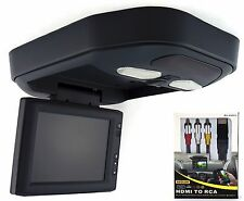 "8"" Flip-down overhead console LCD monitor for Cars/Trucks With FREE HDMI- Black"