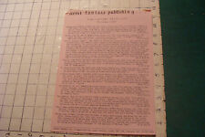 Vintage High Grade: FERRET FANTASY PUBLISHING price list autumn 1980 folded top
