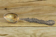 Brooklyn Bridge, New York from North River Souvenir Spoon Sterling Silver