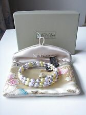 BRAND NEW HONORA PEARL SILVER COIL BRACELET
