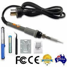 6in1 Electric Soldering Iron 60W Stand Tool Tweezers Kit 240V Solder Stick
