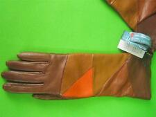 "SIM ITALIAN GLOVES Brown Leather NWT 13"" Long Gloves 7.5"