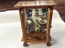 NEW WOODEN DISPLAY CABINET FOR DOLLHOUSE MINIATURE  FROM THAILAND FREE SHIPPING