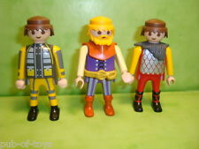 Playmobil : Lot de 3 personnages playmobil / figure