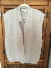 Vintage CHRISTIAN AUJARD  2 Buttoned 80% MOHAIR Lavender Sweater/Vest Size Large