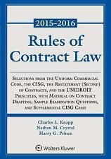 Rules of Contract Law 2015-2016 Statutory Supplement by Knapp (2015,...